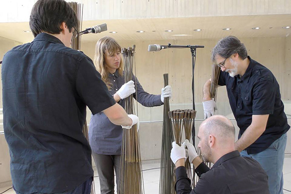 Faculty members Annie Lewandowski, Christopher Miller and Kevin Ernste formed the The Cornell Avant Garde Ensemble (CAGE)