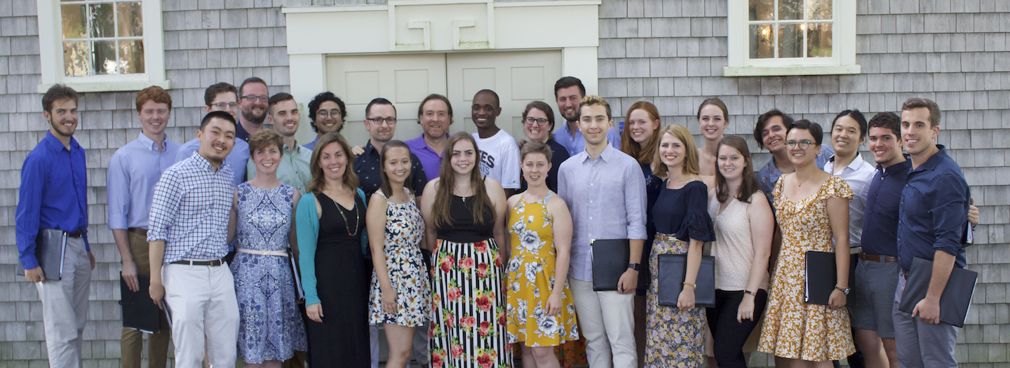 Chamber Singers in front of African Meeting House, Nantucket