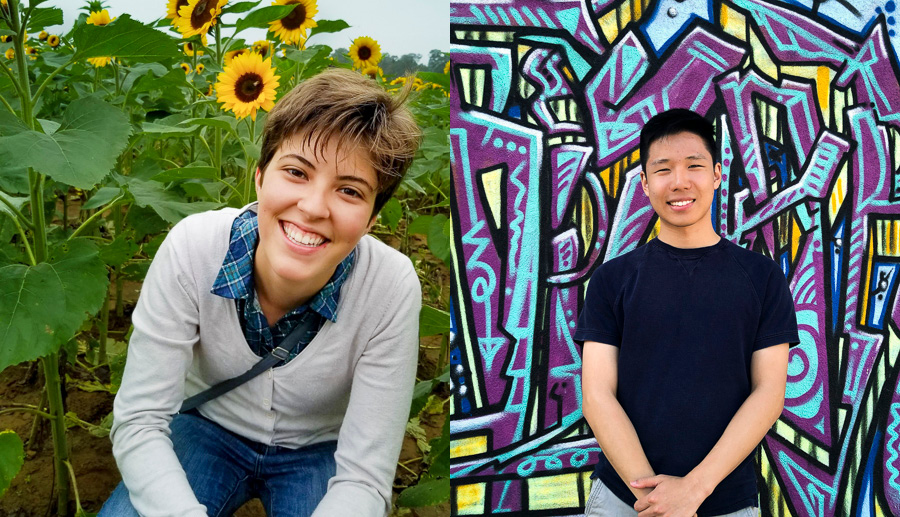 Marta Faulkner and David Zhang headshots