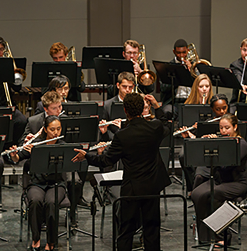 James Spinazzola conducts the Wind Symphony
