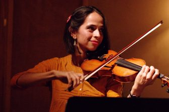 Anaar Desai-Stephens performs violin