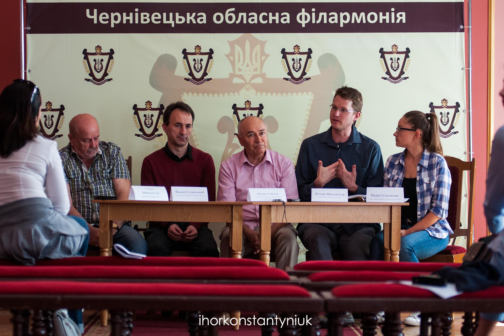 Dietmar Friesenegger presents at a panel