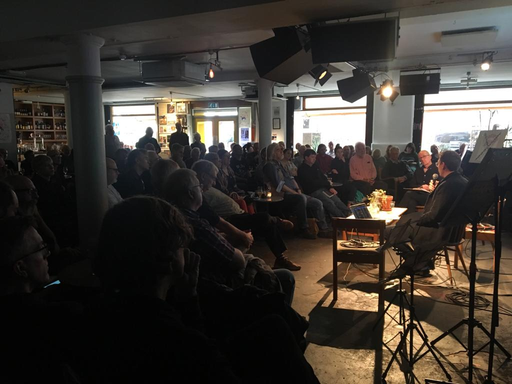 Piekut with David Toop at Cafe Oto in London, October 13, 2019.