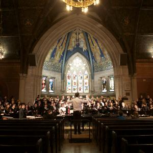 Cornell Chorale performs in Sage Chapel