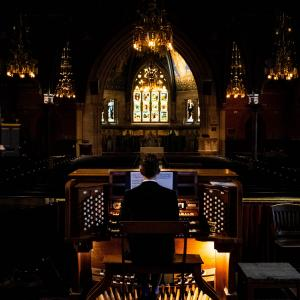 Michael Plagerman at the Sage Chapel organ